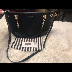 Black Henri Bendel crossbody handbag.